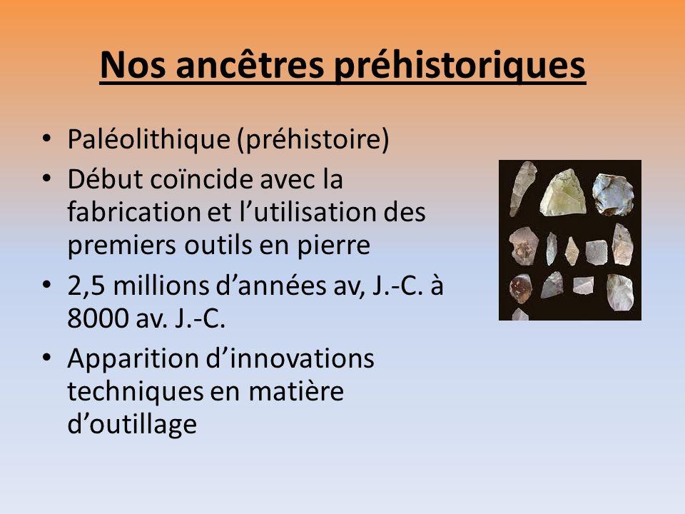 « Paléolithique » Grecque Signifie « ancienne » (palaios) « pierre » (lithos) Pierre taillée