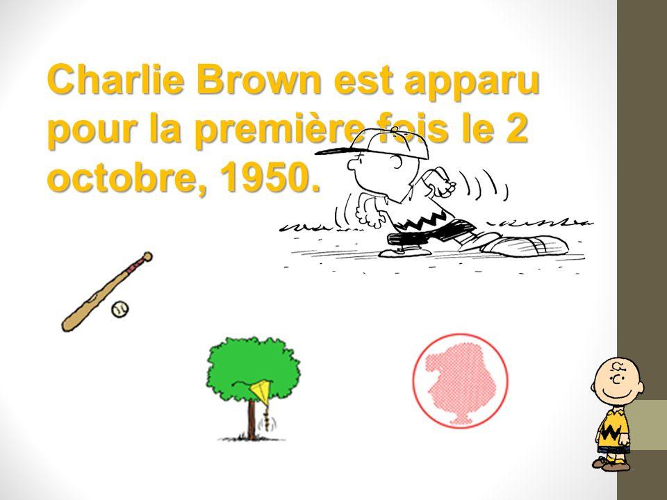 Charlie Brown est apparu pour la première fois le 2 octobre, 1950.