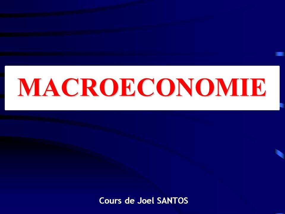 MACROECONOMIE Cours de Joel SANTOS