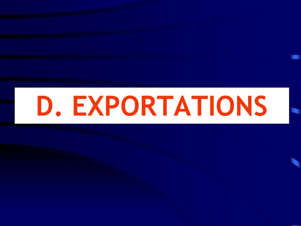 D. EXPORTATIONS