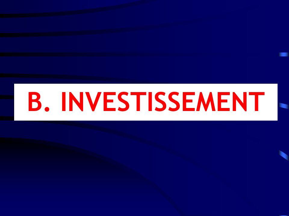 B. INVESTISSEMENT