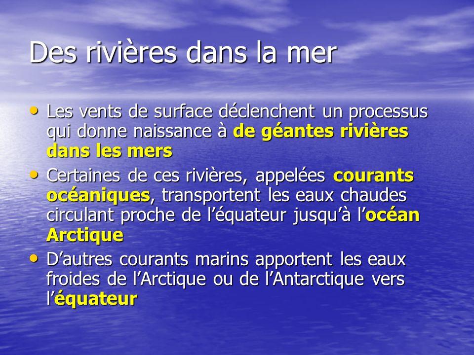 Des rivières dans la mer Les vents de surface déclenchent un processus qui donne naissance à de géantes rivières dans les mers Les vents de surface dé
