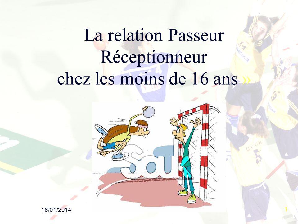 16/01/2014 1 La relation Passeur Réceptionneur chez les moins de 16 ans »