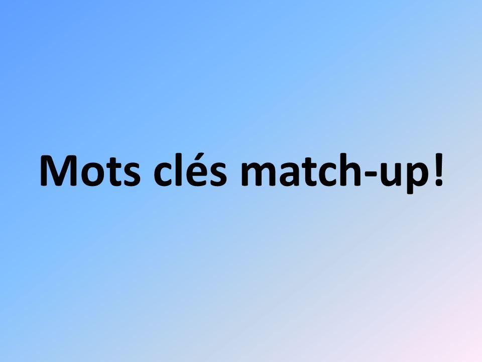 Mots clés match-up!