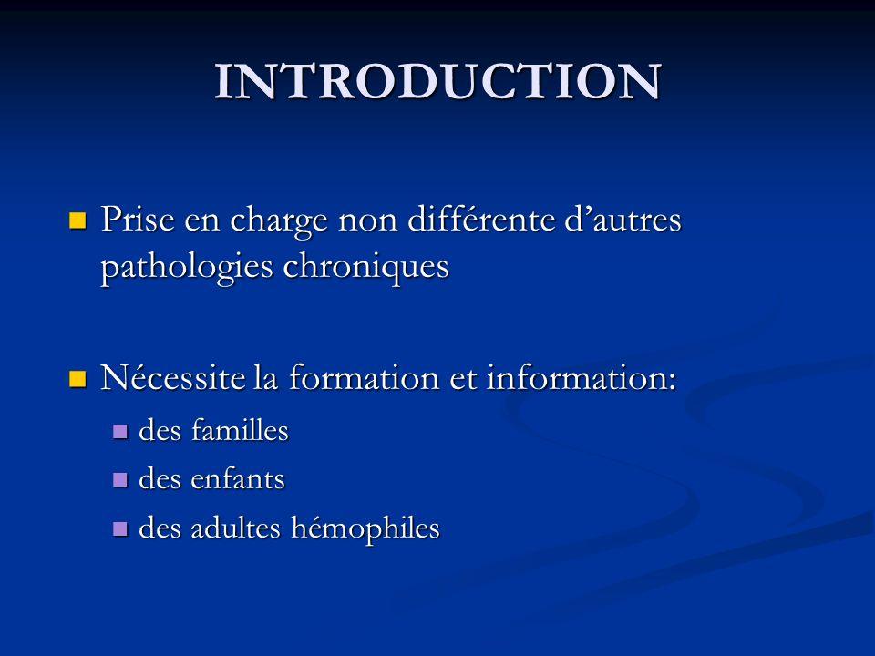 INTRODUCTION Prise en charge non différente dautres pathologies chroniques Prise en charge non différente dautres pathologies chroniques Nécessite la