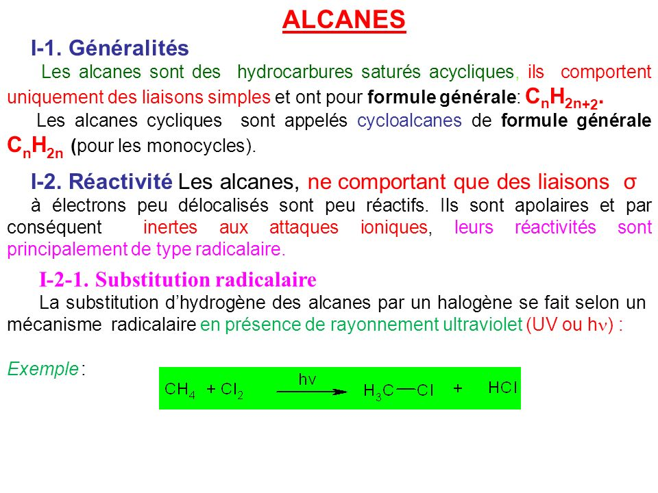 Totale ALCANE IV–2–2.Addition dhalogène IV-2-3.