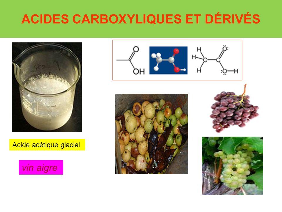 ACIDES CARBOXYLIQUES ET DÉRIVÉS Acide acétique glacial vin aigre