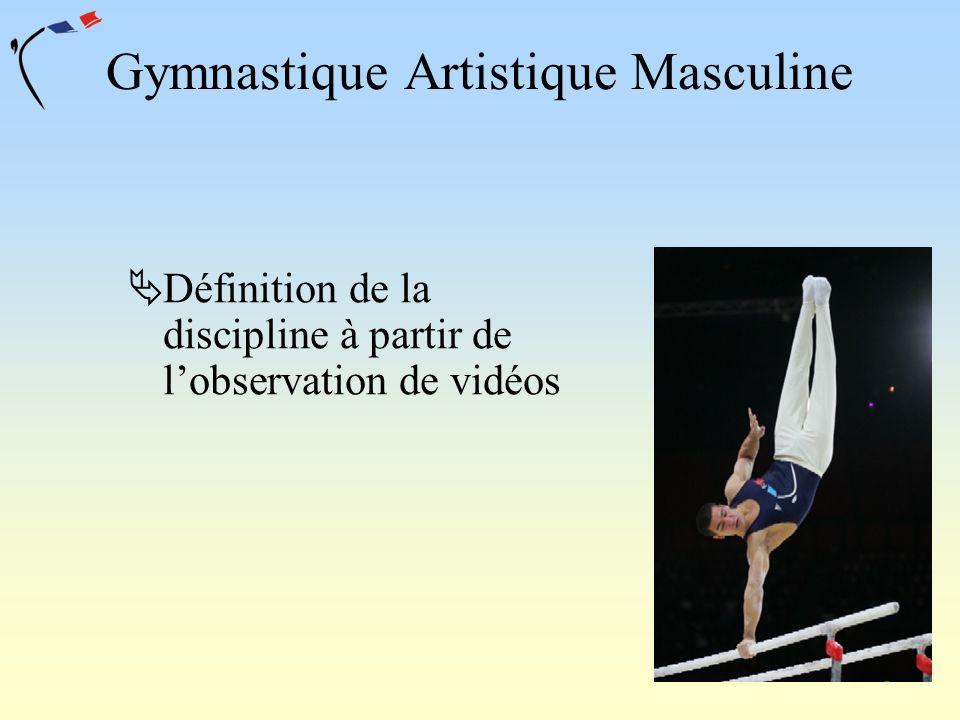Gymnastique Artistique Masculine Définition de la discipline à partir de lobservation de vidéos