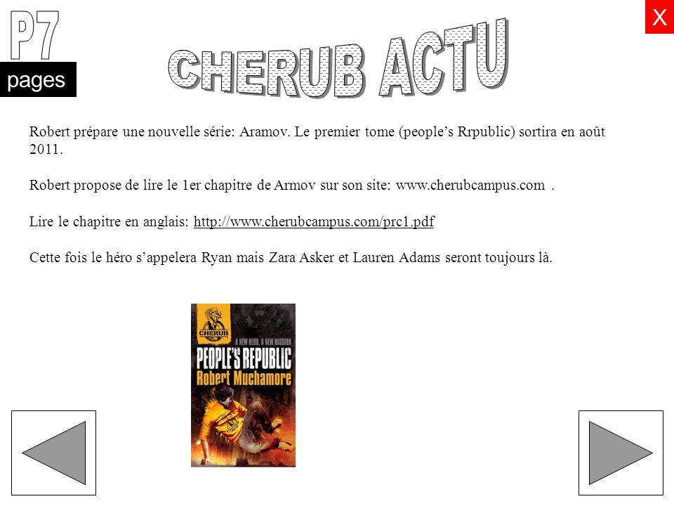 pages X Robert prépare une nouvelle série: Aramov. Le premier tome (peoples Rrpublic) sortira en août 2011. Robert propose de lire le 1er chapitre de