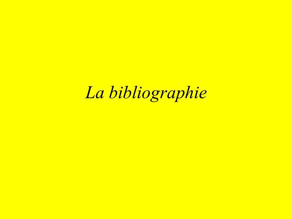 La bibliographie