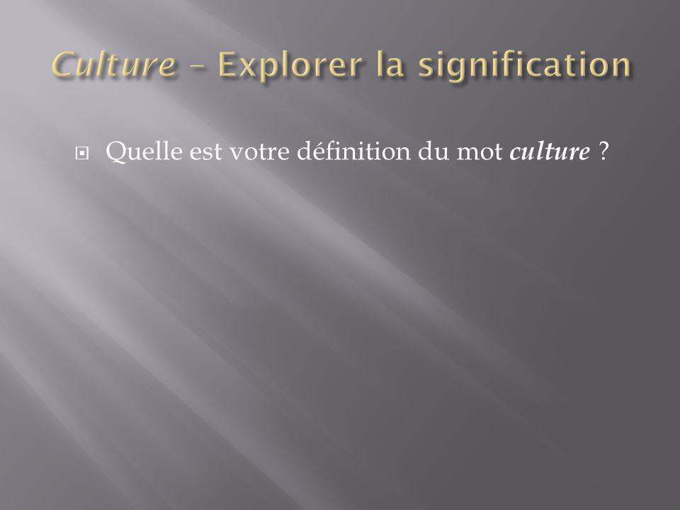 Avec quelle culture identifiez-vous.Quelles sont les traditions ou coutumes que vous suivez.