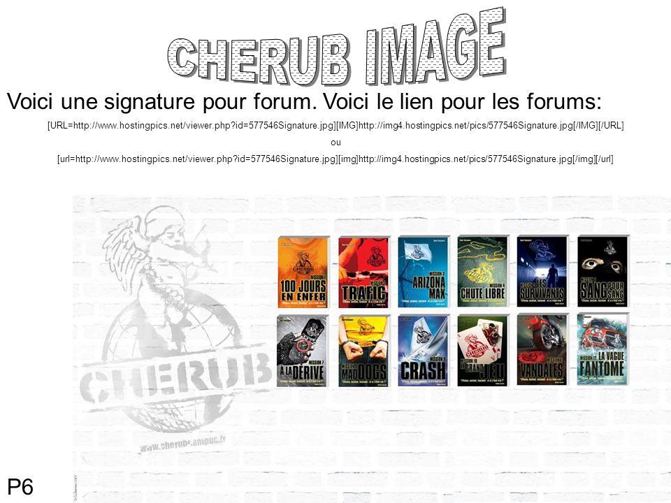 P6 Voici une signature pour forum.