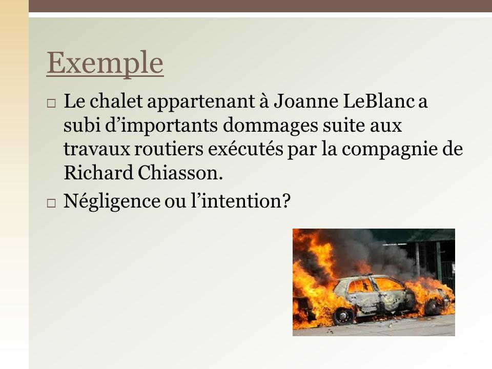 Le chalet appartenant à Joanne LeBlanc a subi dimportants dommages suite aux travaux routiers exécutés par la compagnie de Richard Chiasson.