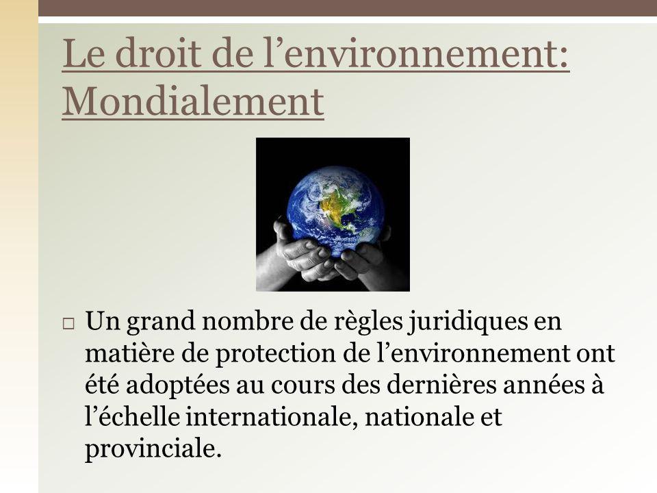 Une cinquantaine dÉtats ont signé le Protocole de Montréal La réduction démission de CFC dans latmosphère, afin de protéger la couche dozone En vigueur depuis 1989 Exemple: International