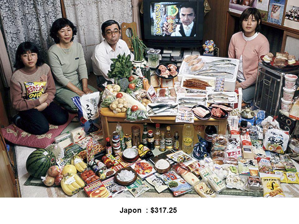 Japon : $317.25