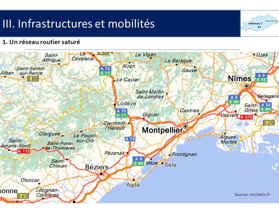 III. Infrastructures et mobilités 1. Un réseau routier saturé Un réseau routier dense le long du littoral. Le flux touristique: la question de l'acces