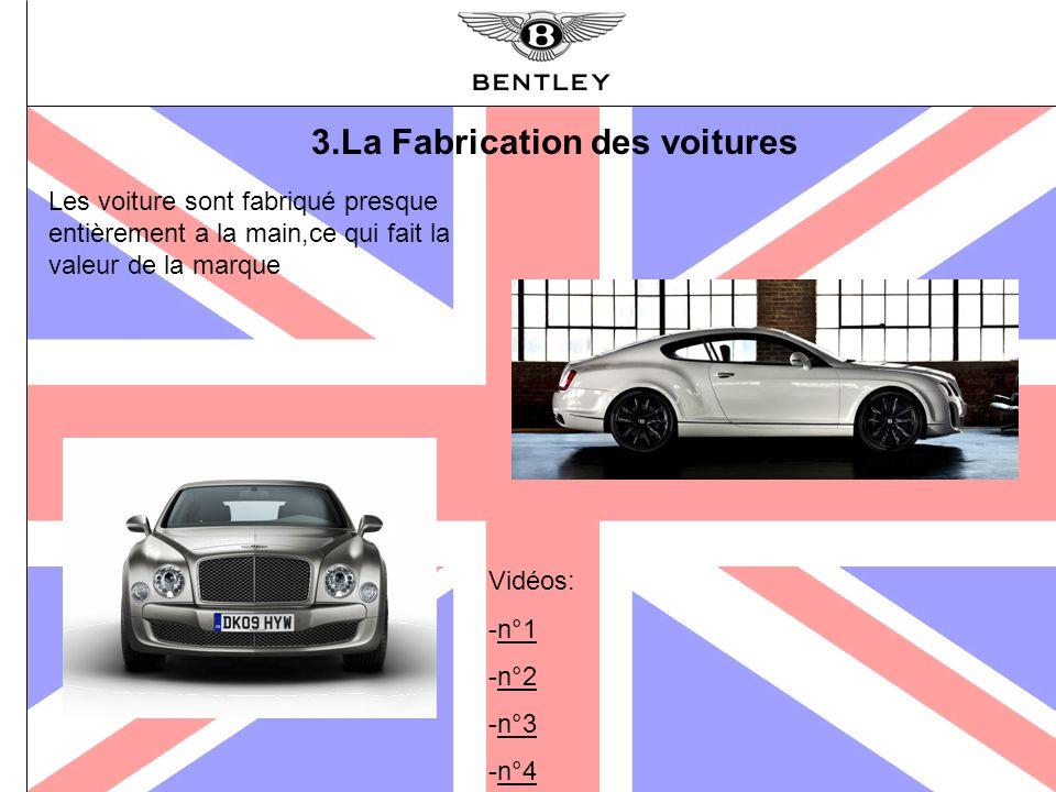 3.La Fabrication des voitures Les voiture sont fabriqué presque entièrement a la main,ce qui fait la valeur de la marque Vidéos: -n°1n°1 -n°2n°2 -n°3n