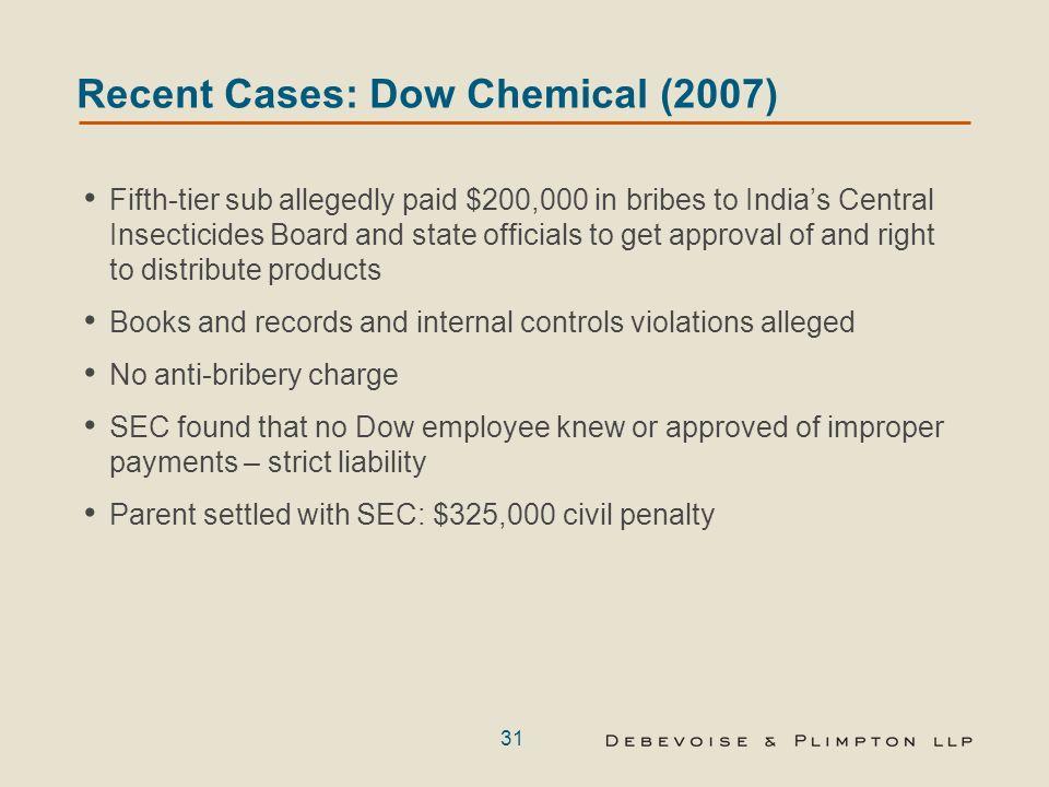 Annexe 1: Résumé de cas FCPA récents