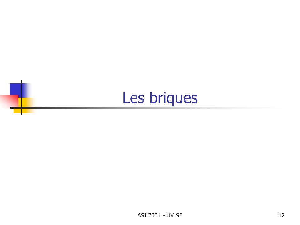 ASI 2001 - UV SE12 Les briques