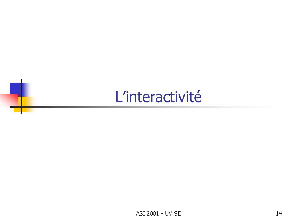 ASI 2001 - UV SE14 Linteractivité
