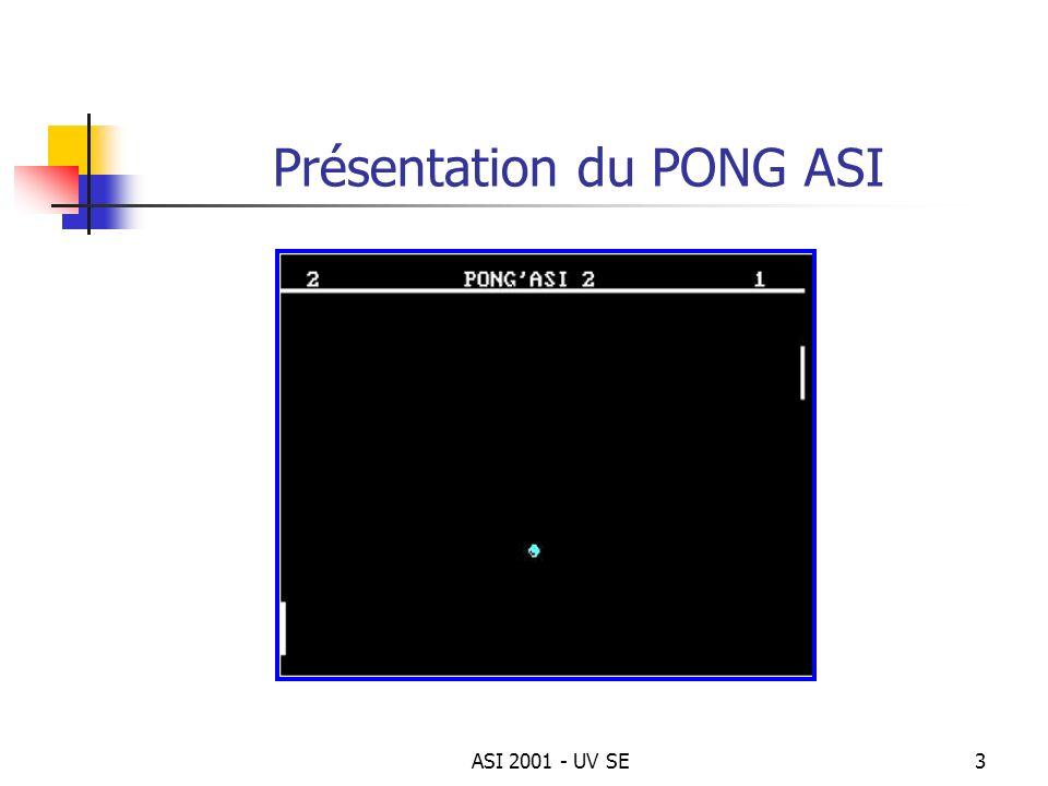 ASI 2001 - UV SE3 Présentation du PONG ASI
