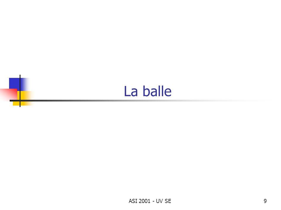 ASI 2001 - UV SE9 La balle