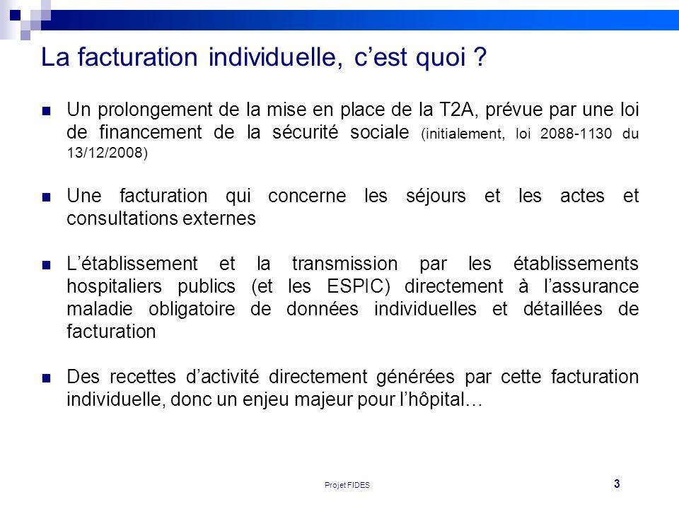 3 Réunion FEHAP 16/11/10 V1Projet FIDES La facturation individuelle, cest quoi ? Un prolongement de la mise en place de la T2A, prévue par une loi de