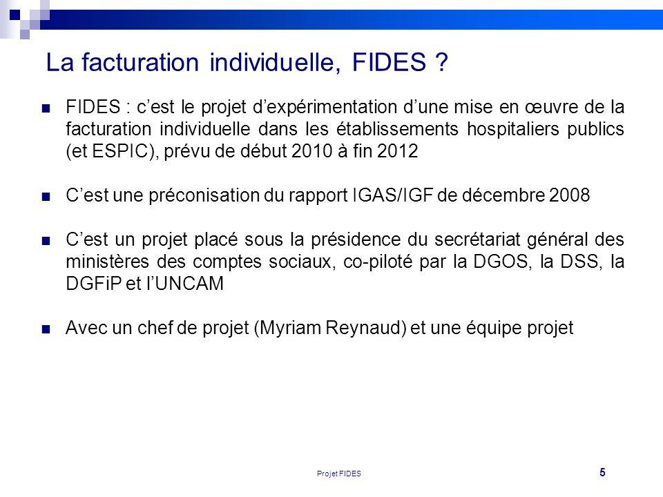 5 Réunion FEHAP 16/11/10 V1Projet FIDES La facturation individuelle, FIDES ? FIDES : cest le projet dexpérimentation dune mise en œuvre de la facturat