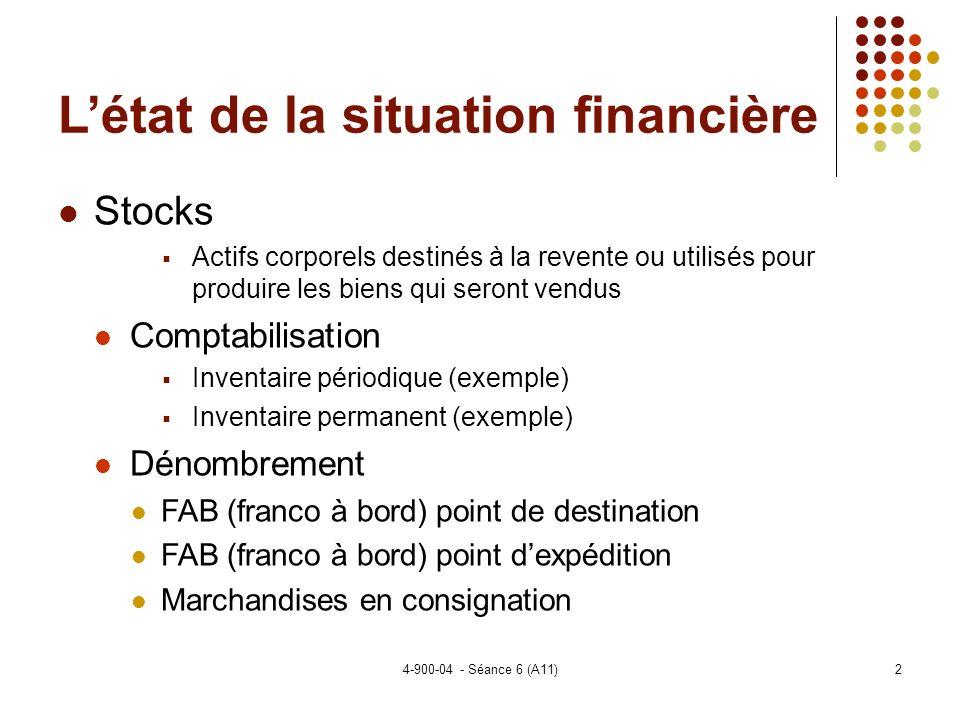 4-900-04 - Séance 6 (A11)23 Sujets spéciaux Les normes pour les ECF Définitions générale: Entreprises à but lucratif nayant pas émis dinstrument de créances ou de capitaux propres négociés sur un marché public.
