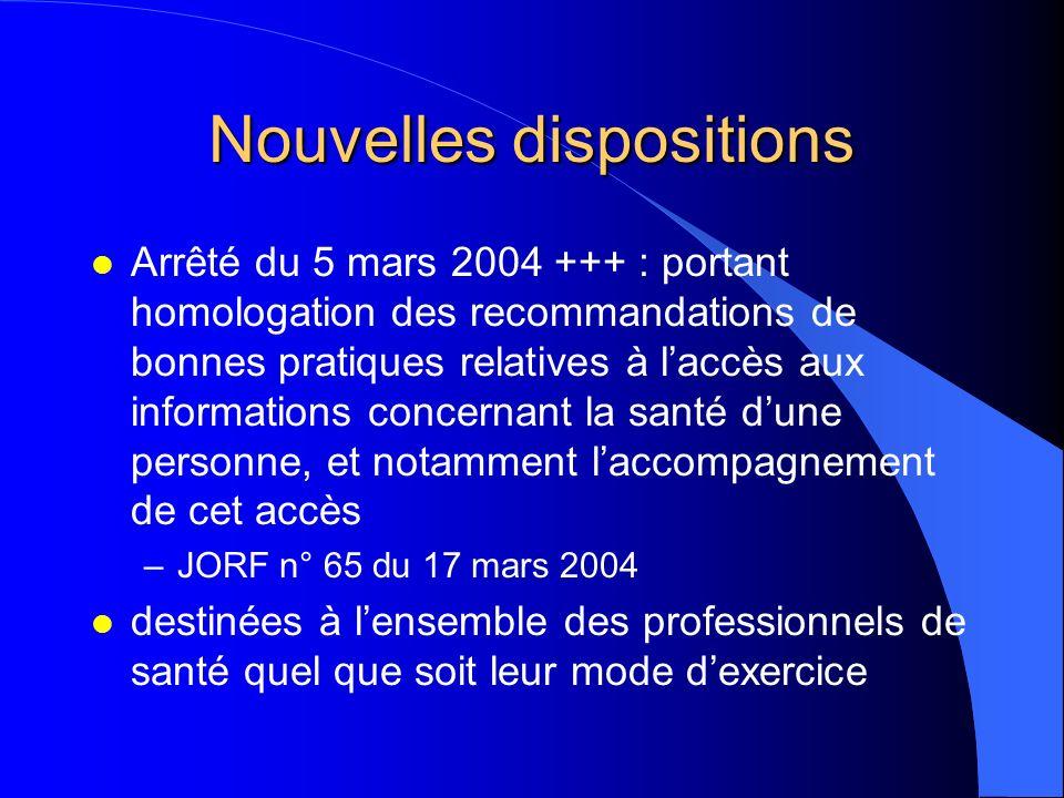 Recommandations l Rapport sur Amélioration de la qualité et du contenu du dossier patient l ANAES, juin 2003 +++