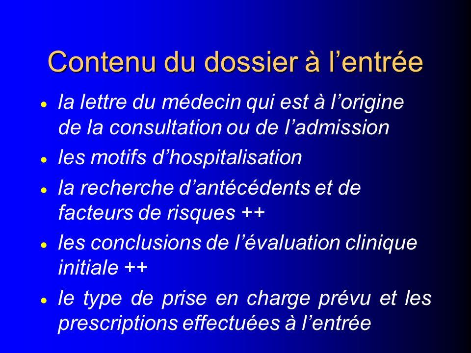 l 1º Les informations formalisées recueillies –lors des consultations externes dispensées dans l'établissement –lors de l'accueil au service des urgen