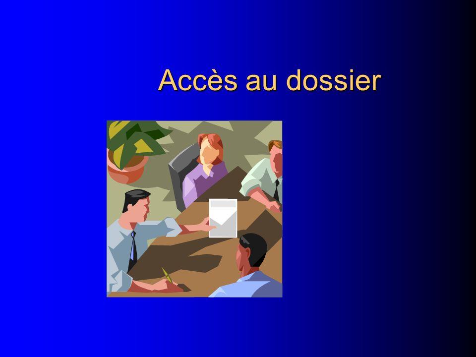 l Faire le tri au dernier moment nest pas une bonne gestion l Bien structurer les nouveaux dossiers en séparant les info communicables ou non