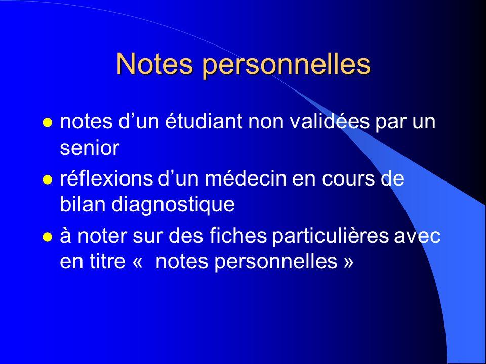 Notes personnelles l Arrêté du 4 mars 2004 l intransmissibles et inaccessibles à la personne concernée comme aux tiers, professionnels ou non l notes
