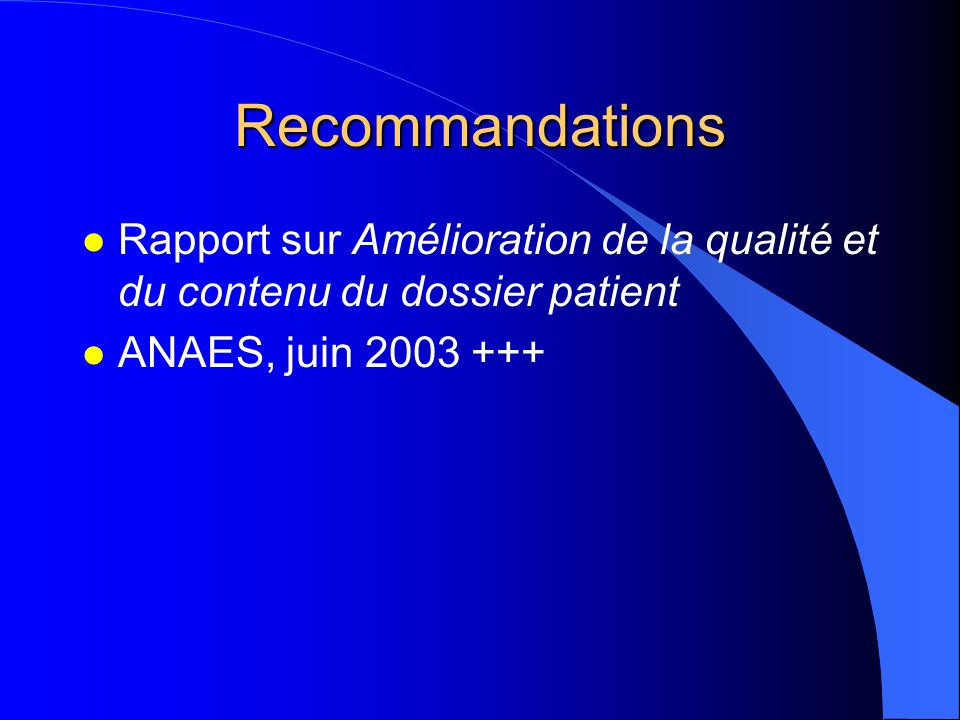 Nouvelles dispositions relatives au dossier l loi n°2002-303 du 4 mars 2002 –art L 1111-7 et L 1112-1 CSP l décret n°2002-637 du 29 avril 2002 : accès