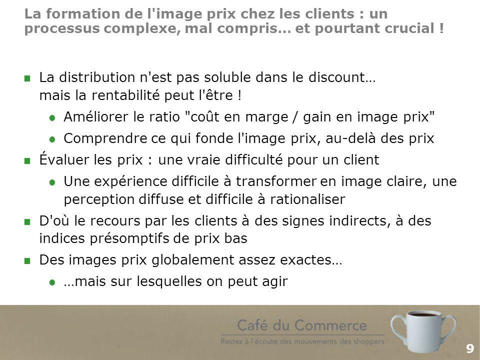9 La formation de l image prix chez les clients : un processus complexe, mal compris… et pourtant crucial .