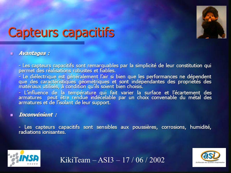 23 Capteurs capacitifs Avantages : Avantages : - Les capteurs capacitifs sont remarquables par la simplicité de leur constitution qui permet des réali
