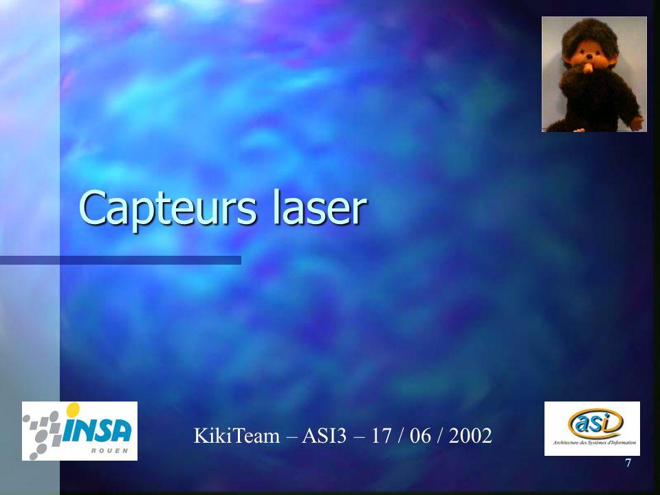 7 Capteurs laser KikiTeam – ASI3 – 17 / 06 / 2002
