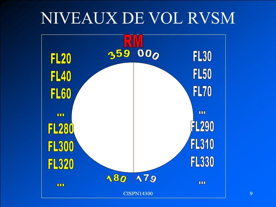 CISPN143009 NIVEAUX DE VOL RVSM