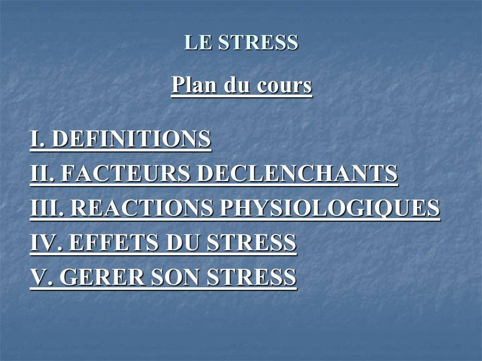 LE STRESS I.