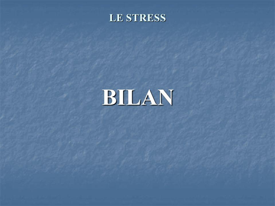 LE STRESS BILAN