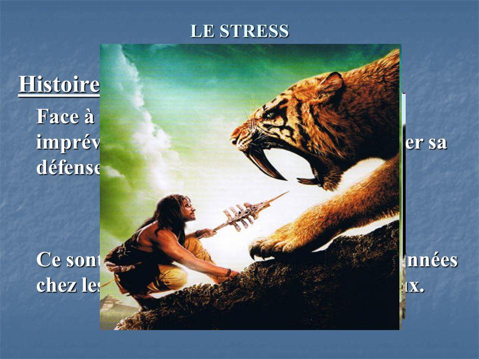 LE STRESS I. DEFINITIONS Histoire du stress Face à un élément nouveau, inconnu ou imprévu, un être vivant peut, pour assurer sa défense, adopter deux