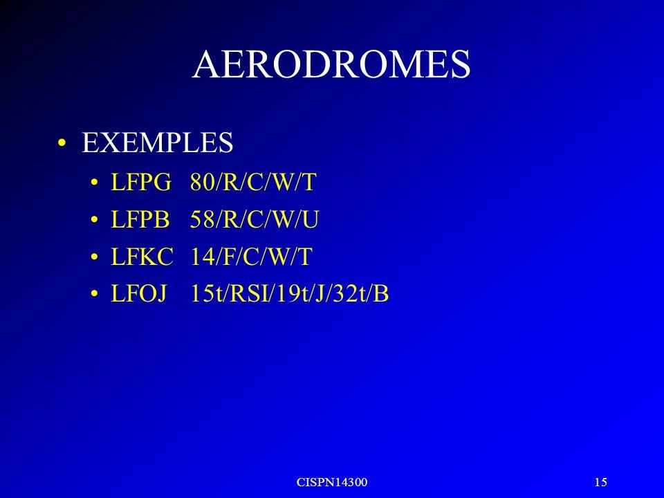 CISPN14300 14 AERODROMES ACN le nombre exprime leffet relatif dun aéronef sur une chaussée pour une catégorie type du terrain de fondation ACN < PCN s