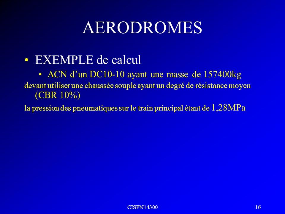 CISPN14300 15 AERODROMES EXEMPLES LFPG80/R/C/W/T LFPB58/R/C/W/U LFKC14/F/C/W/T LFOJ15t/RSI/19t/J/32t/B