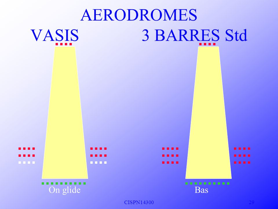 CISPN14300 28 T Haut Haut AERODROMES VASIS A14p59 3 BARRES Std