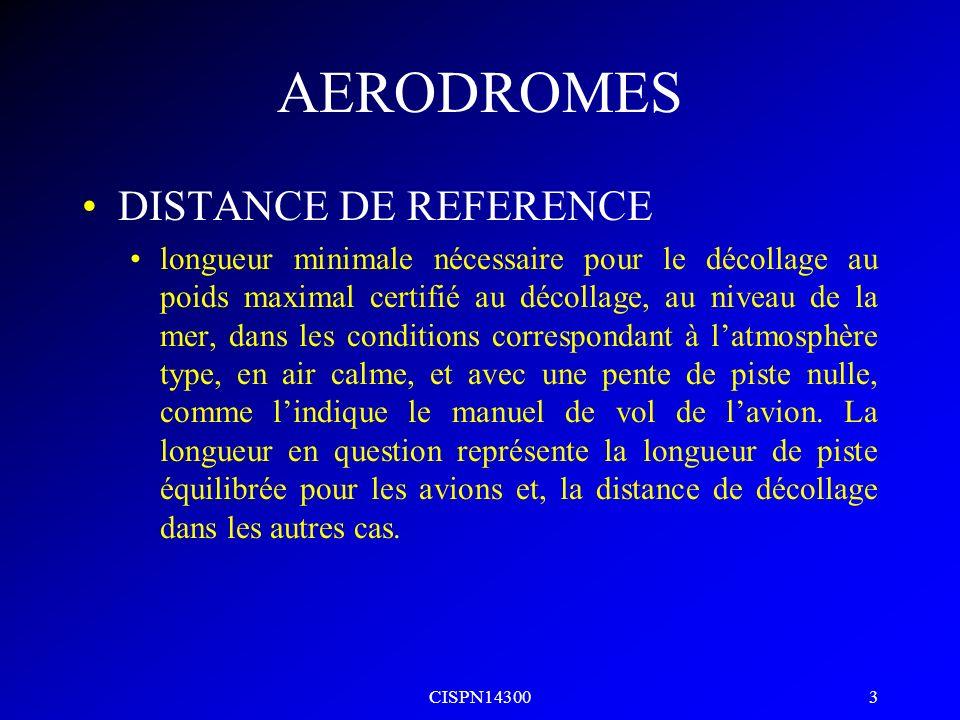 CISPN14300 2 AERODROMES PISTE EQUILIBREE DAA = DF35 POUR MULTIMOTEURS MONOMOTEURS SANS OBJET