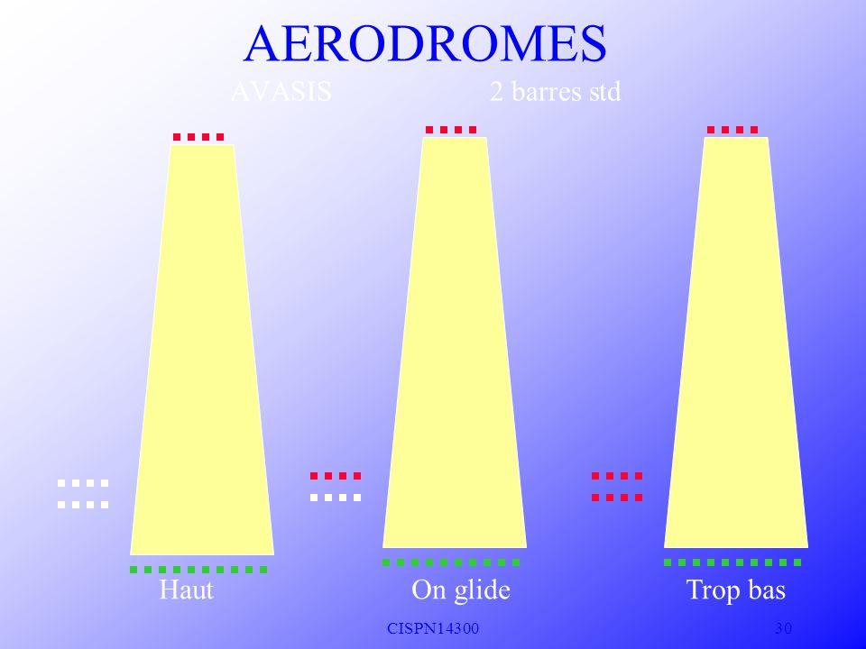 CISPN14300 29 On glide Bas AERODROMES VASIS 3 BARRES Std