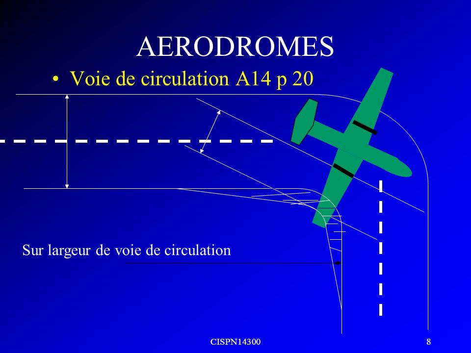 CISPN14300 7 AERODROMES DISTANCE MINIMALE ENTRE PISTE // Recommandations Dans le cas des pistes aux instruments // destinées à être utilisées simultan
