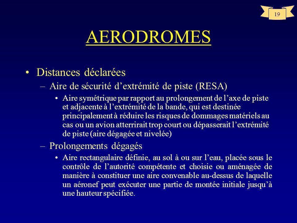 18 AERODROMES Mesure du frottement –Les mesures doivent être faites sur chaque tiers de la piste Coefficient calculé ou mesuré Estimation du frottemen