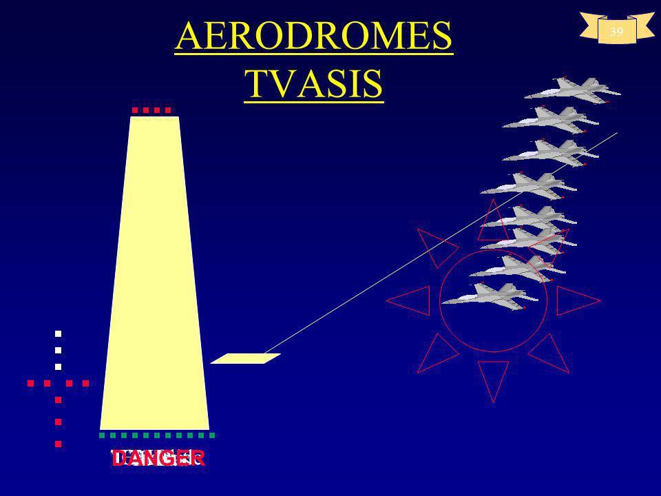 38 AERODROMES Aides visuelles à latterrissage T- VASIS AT-VASIS