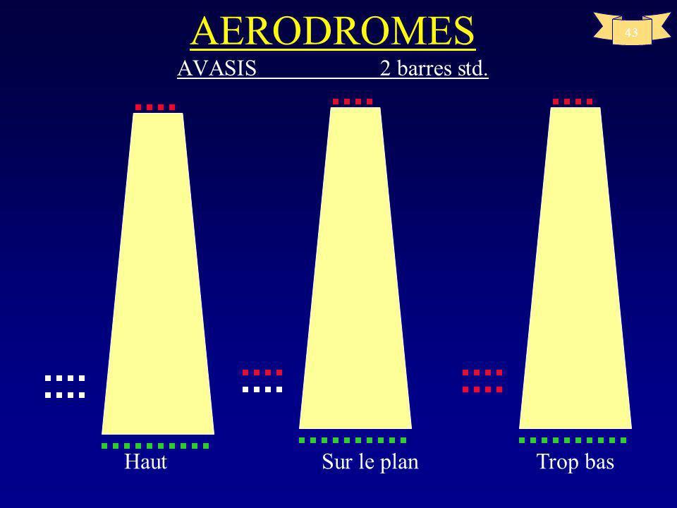 42 Sur le plan Bas AERODROMES VASIS 3 BARRES Std